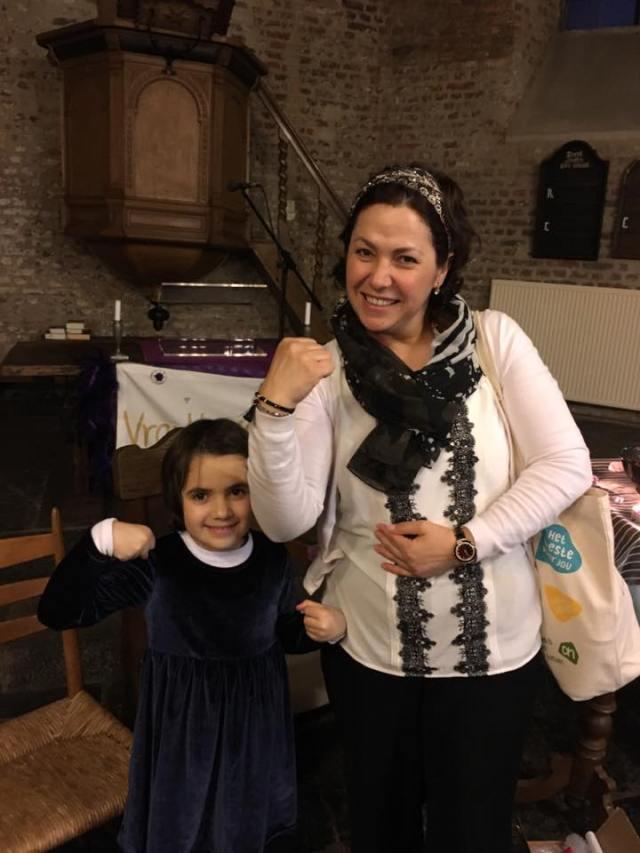 SENNEHELD Huldigingsprijs winnares Hülya Tastekin met dochter Elif
